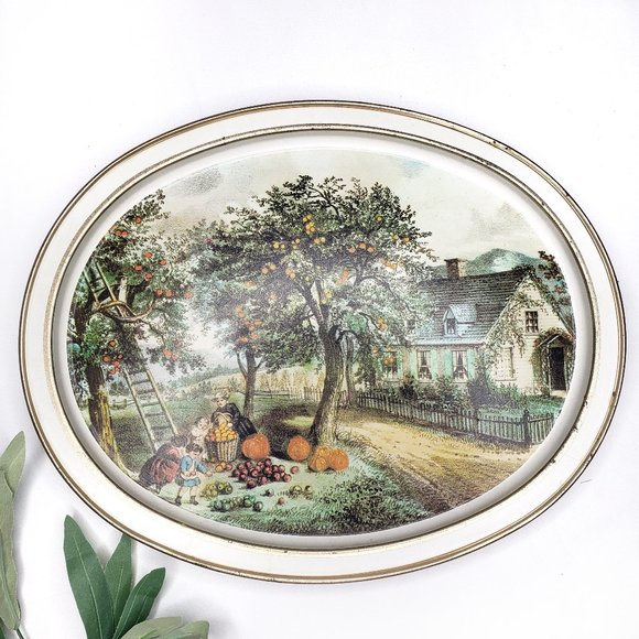 Vintage Other - Vintage Tray The American Homestead - Autumn